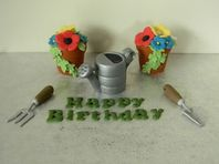 Flower Pots, Watering Can & Tools  Cake Toppers